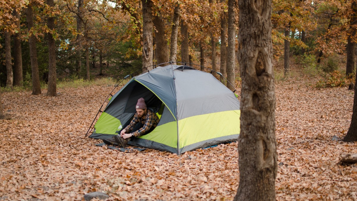 tent woods forest