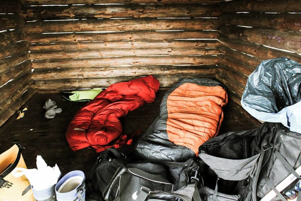 sleeping bag cabin from roughknives