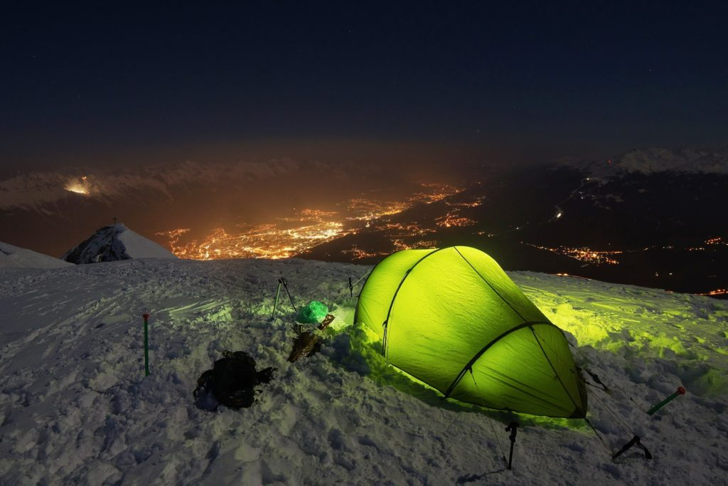 tent winter camping